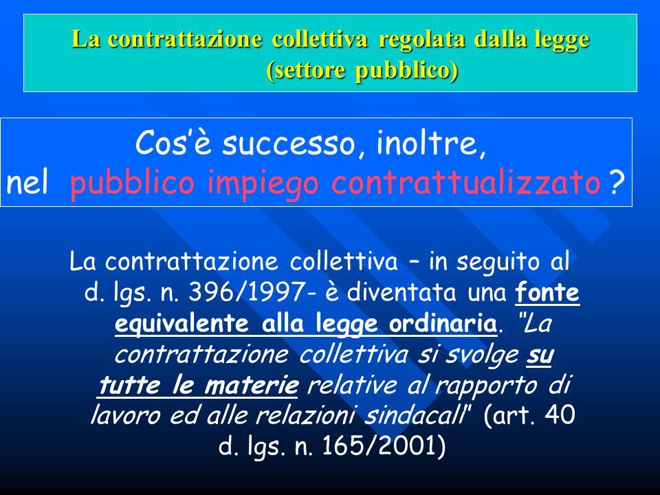 La contrattazione collettiva regolata dalla legge