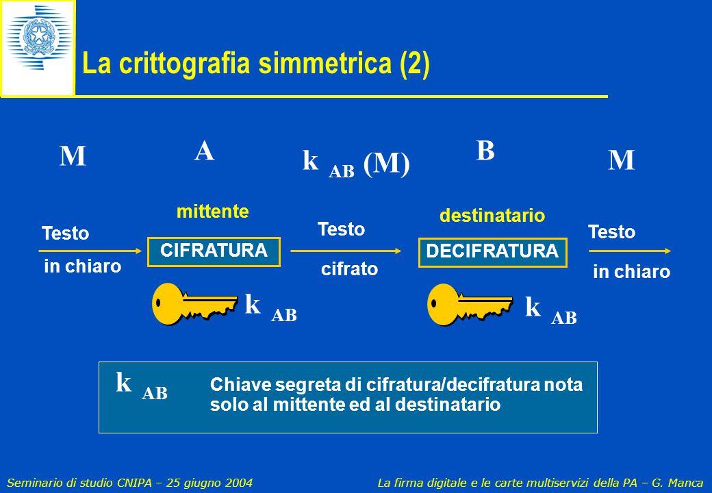 La crittografia simmetrica (2)