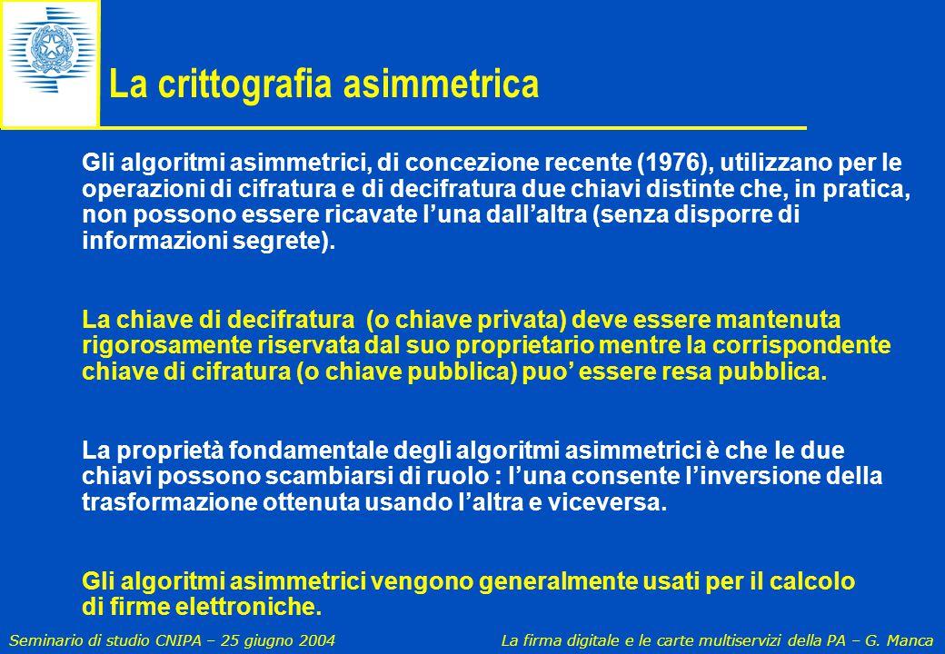 La crittografia asimmetrica