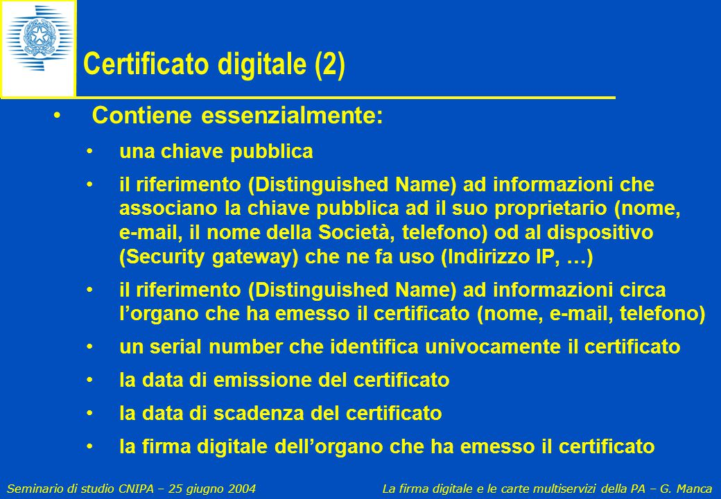 Certificato digitale (2)