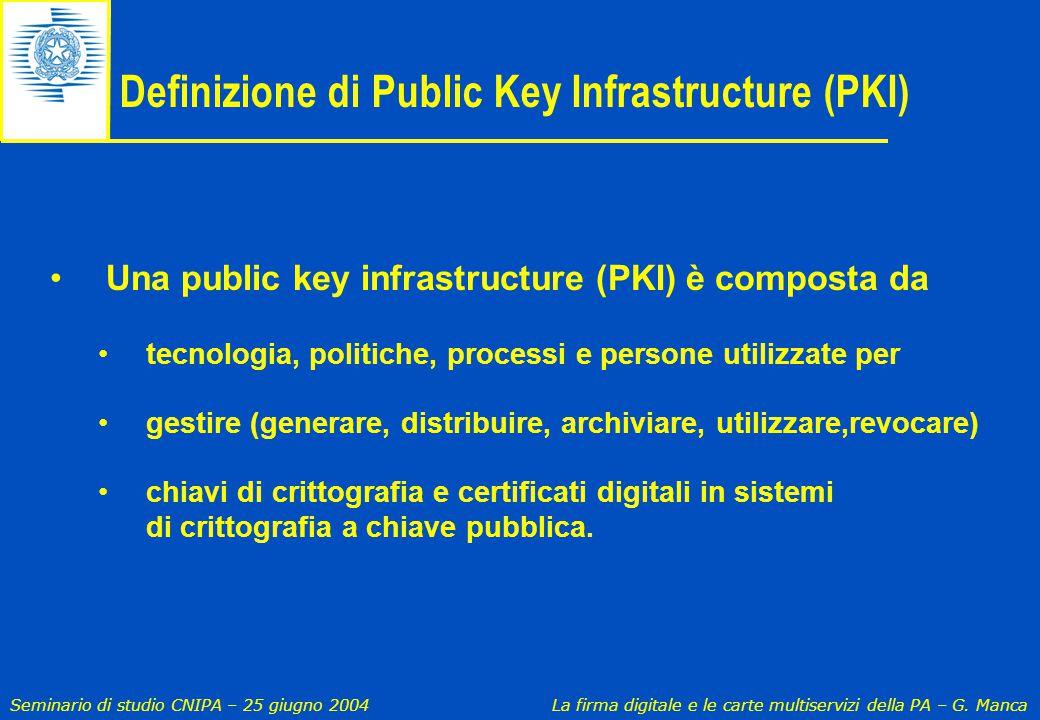 Definizione di Public Key Infrastructure (PKI)
