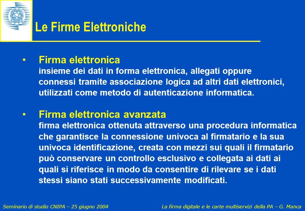 Le Firme Elettroniche