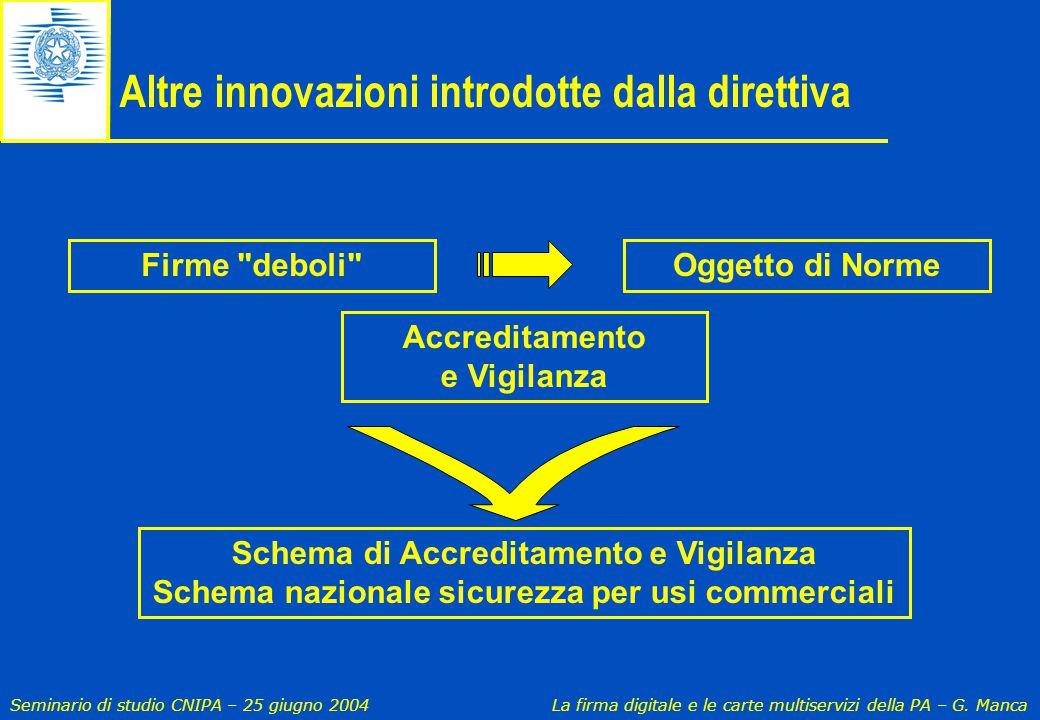 Altre innovazioni introdotte dalla direttiva