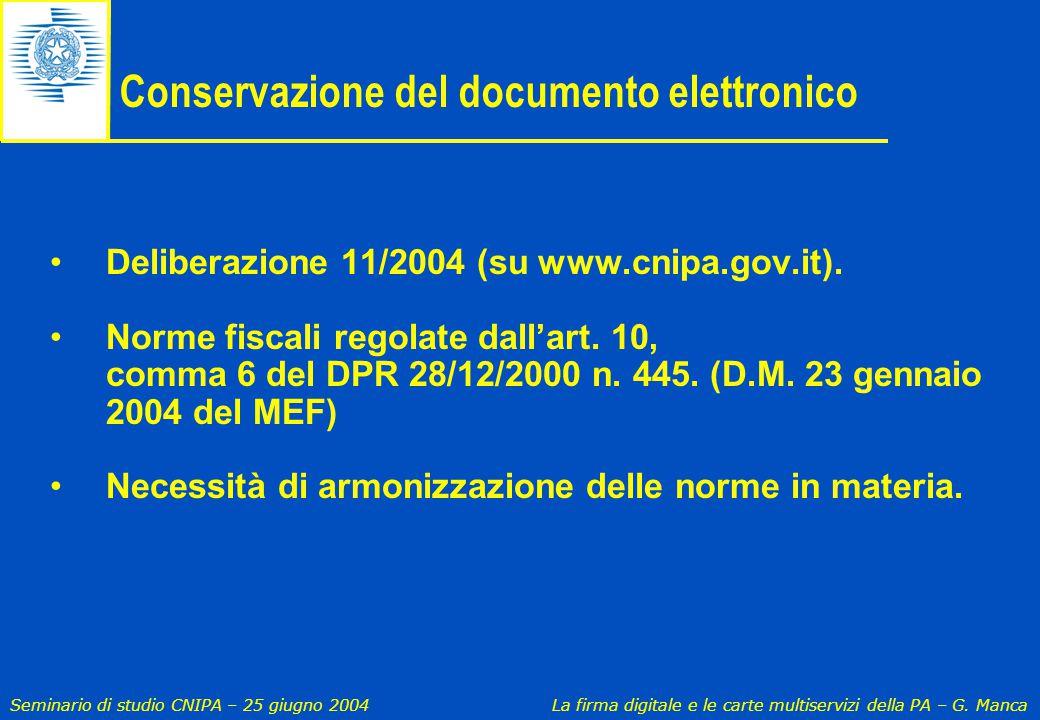 Conservazione del documento elettronico