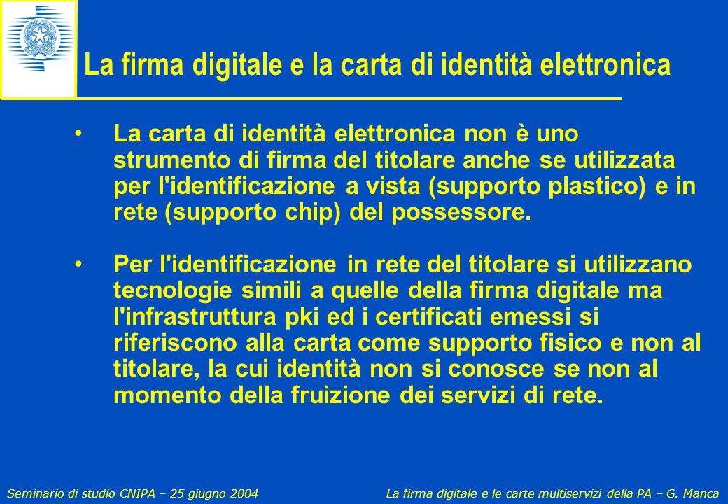 La firma digitale e la carta di identità elettronica