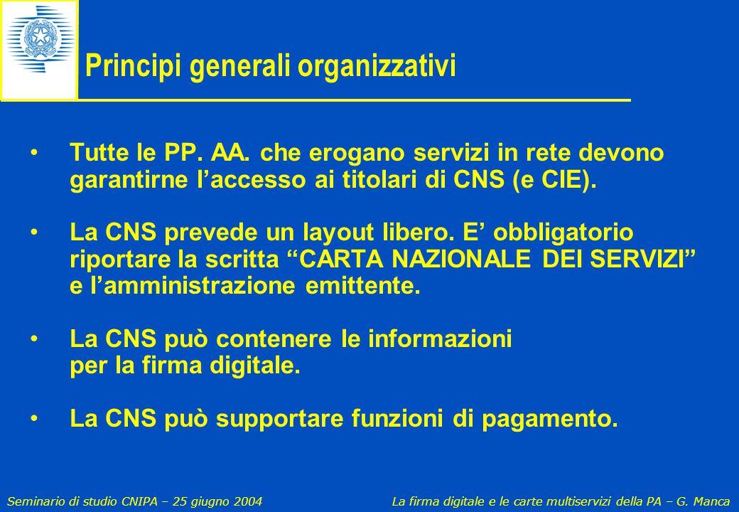 Principi generali organizzativi