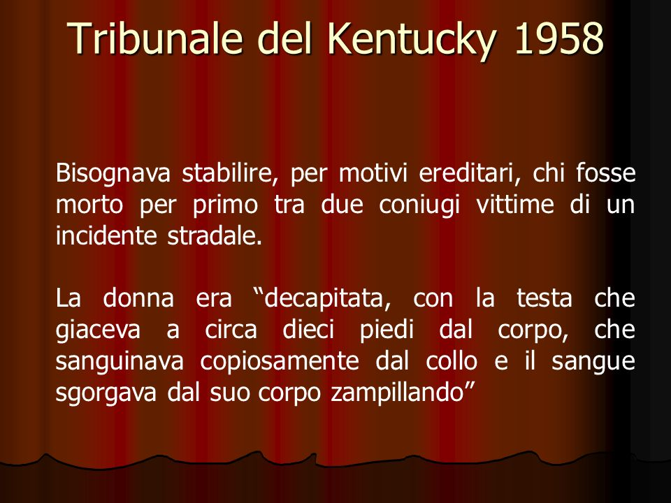 Tribunale del Kentucky 1958