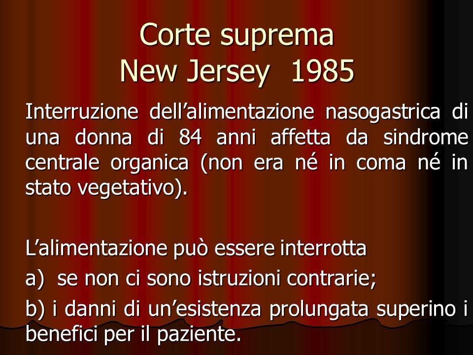 Corte suprema New Jersey 1985