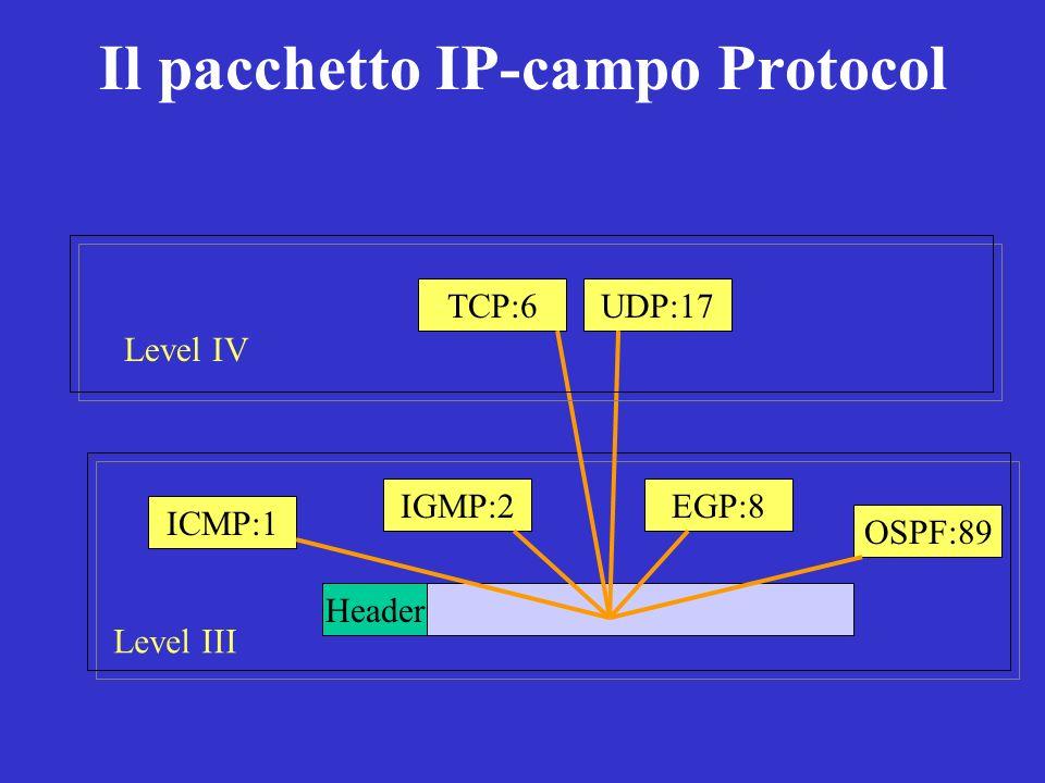 Il pacchetto IP-campo Protocol