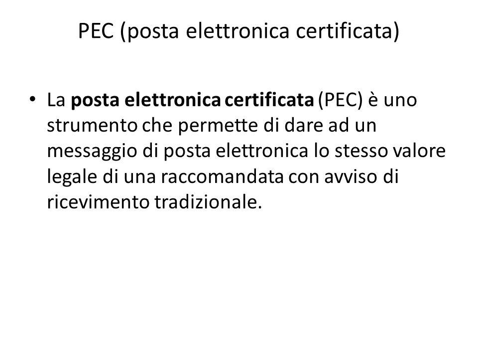 PEC (posta elettronica certificata)