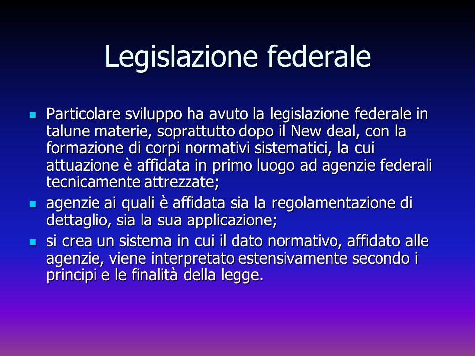 Legislazione federale