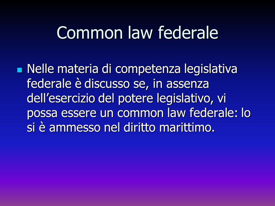 Common law federale