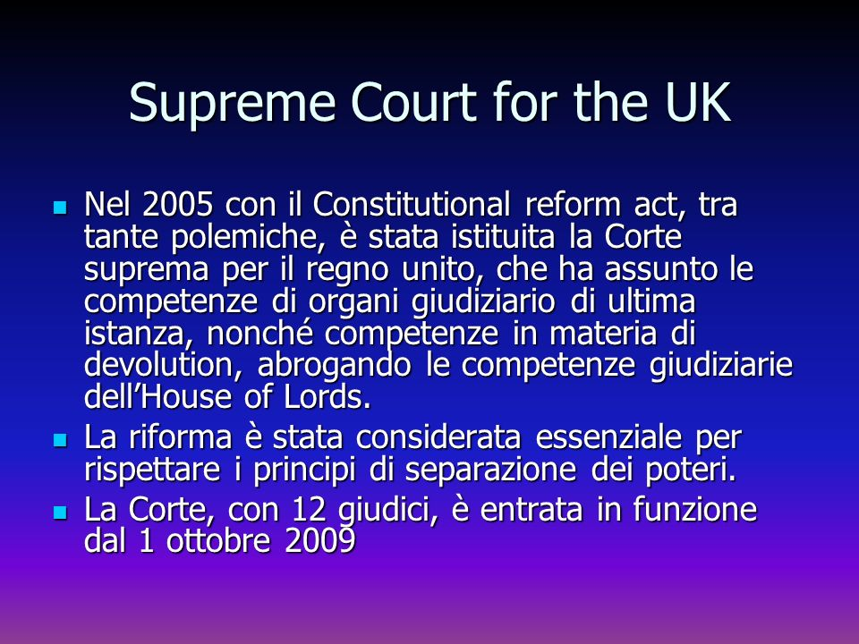 Supreme Court for the UK