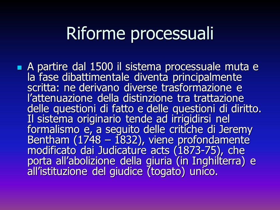 Riforme processuali