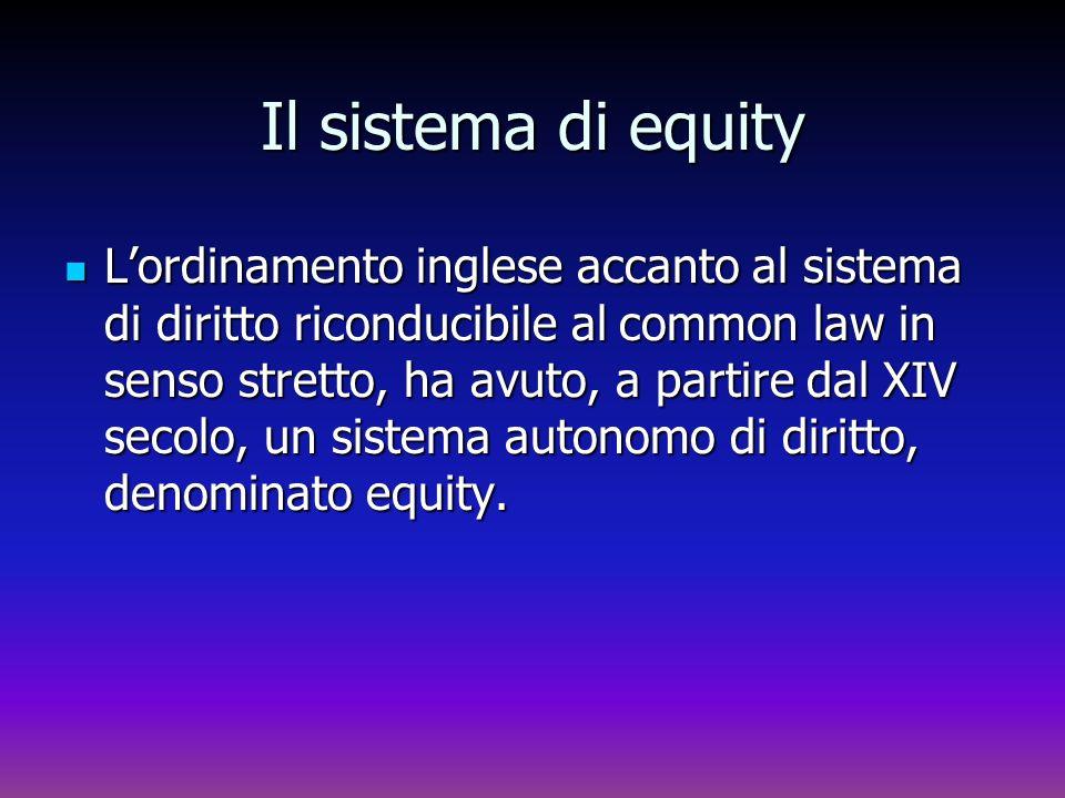 Il sistema di equity