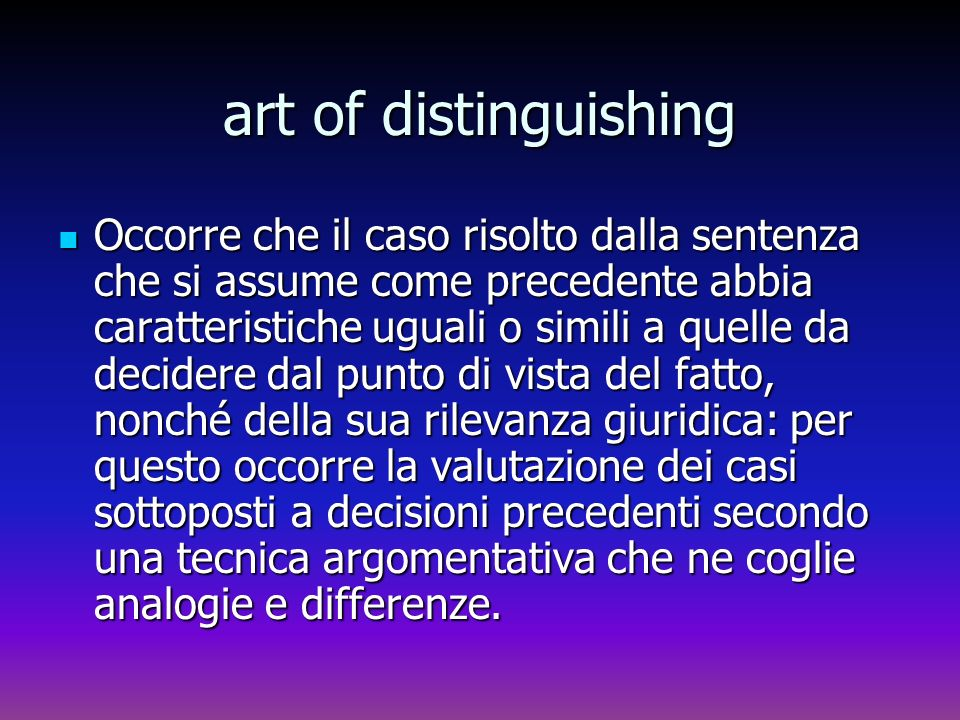art of distinguishing