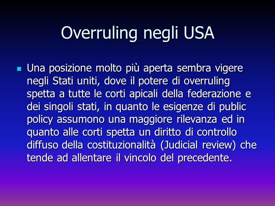 Overruling negli USA