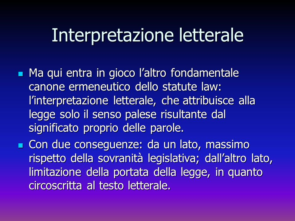 Interpretazione letterale