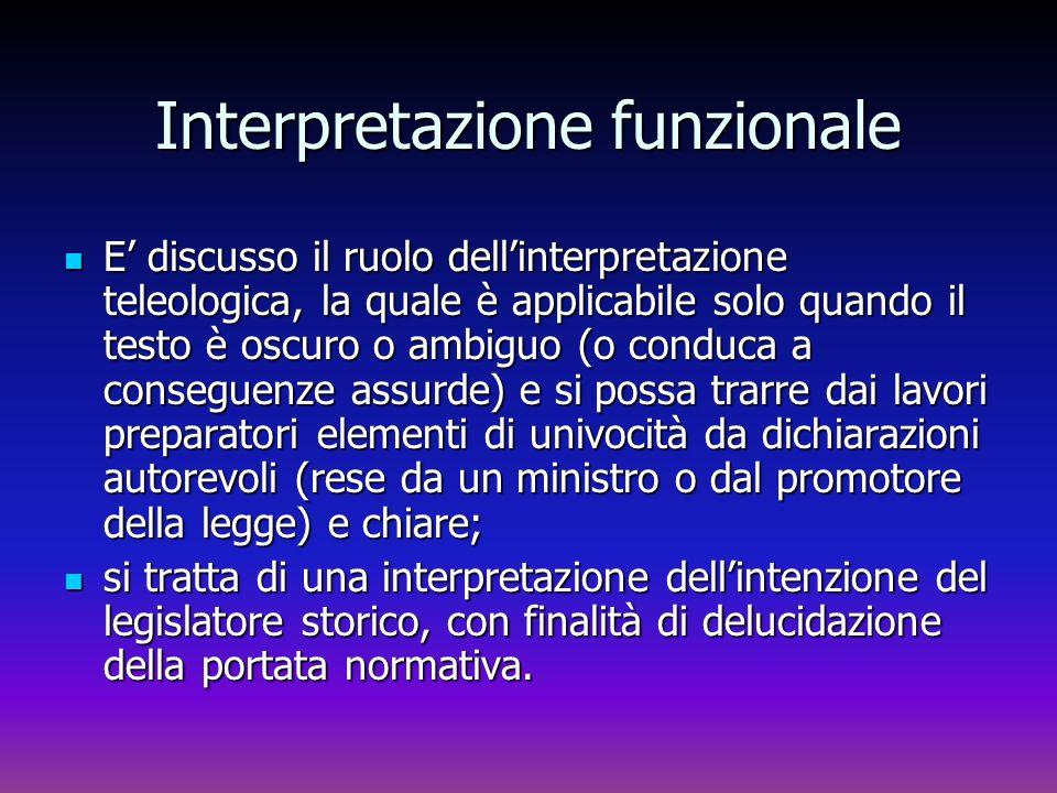 Interpretazione funzionale