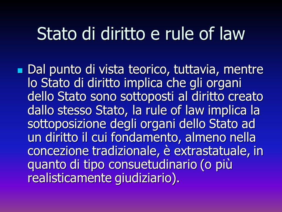 Stato di diritto e rule of law