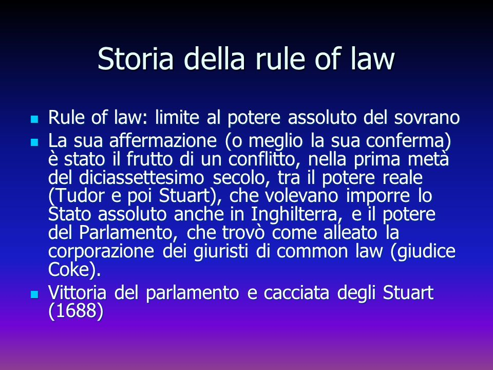 Storia della rule of law