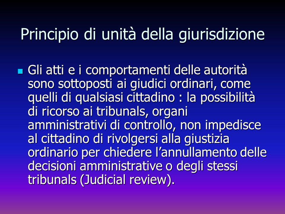 Principio di unità della giurisdizione