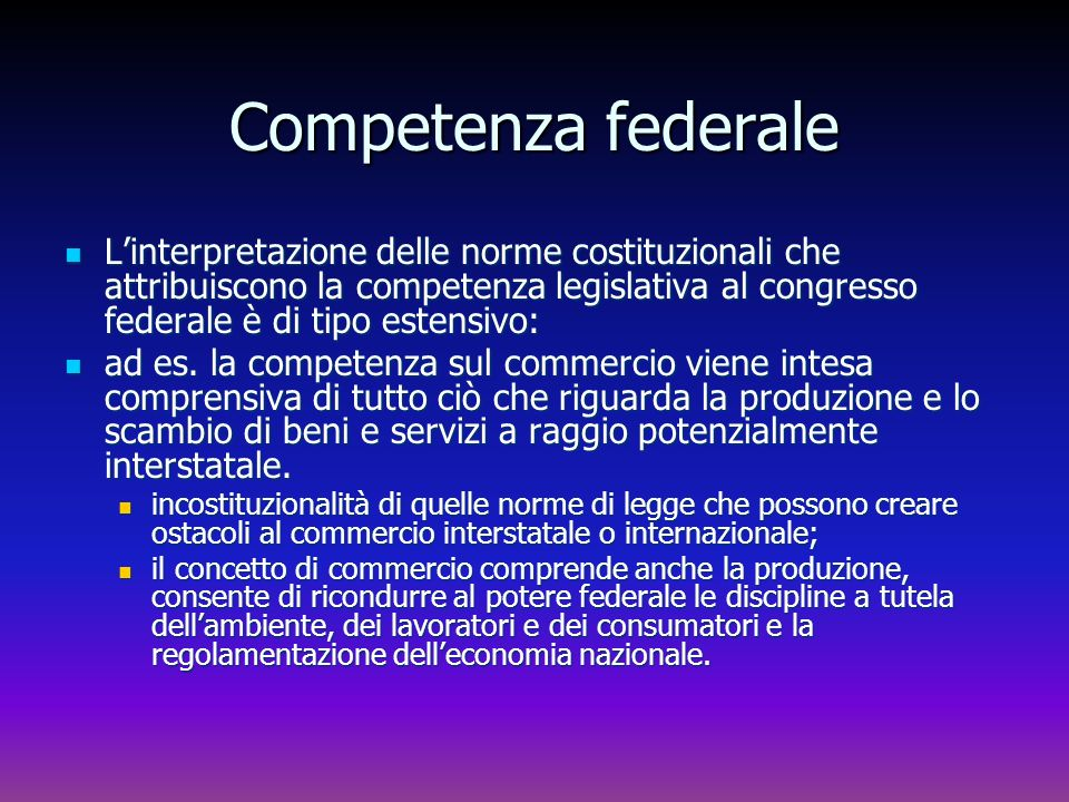 Competenza federale