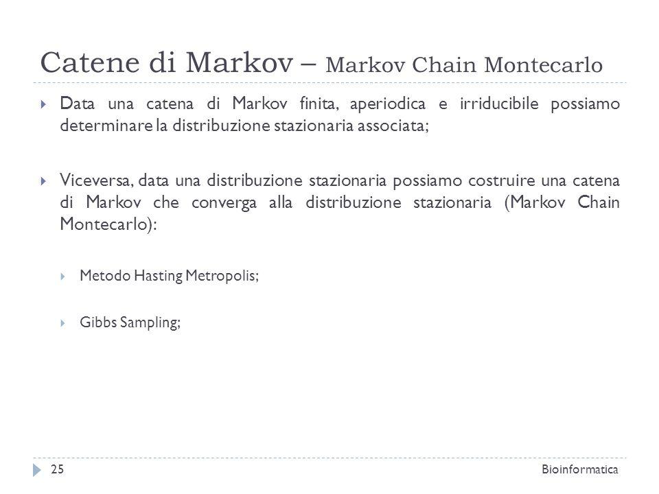 Catene di Markov – Markov Chain Montecarlo