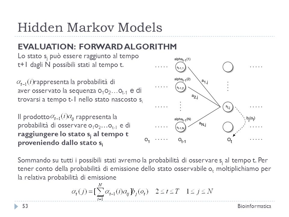 Hidden Markov Models EVALUATION: FORWARD ALGORITHM