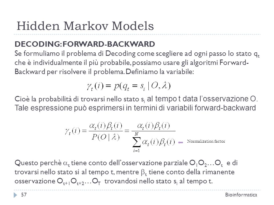 Hidden Markov Models DECODING: FORWARD-BACKWARD