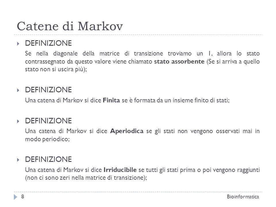 Catene di Markov DEFINIZIONE