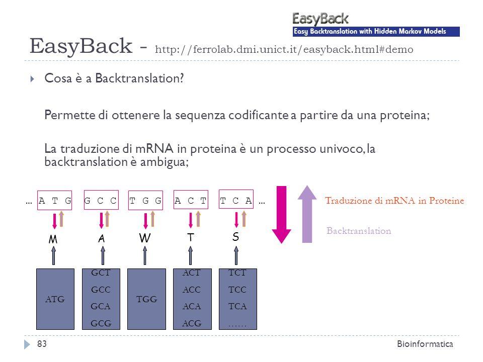 EasyBack - http://ferrolab.dmi.unict.it/easyback.html#demo