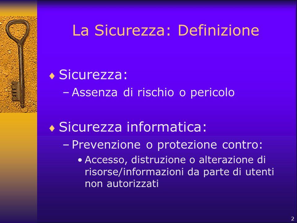La Sicurezza: Definizione