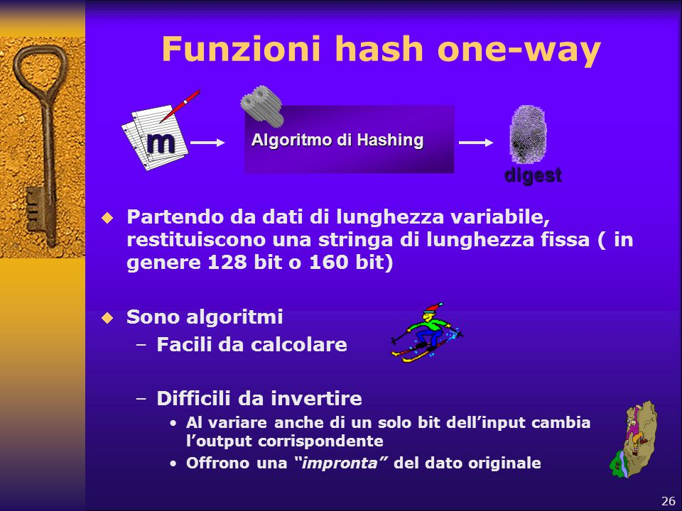 Funzioni hash one-way m digest