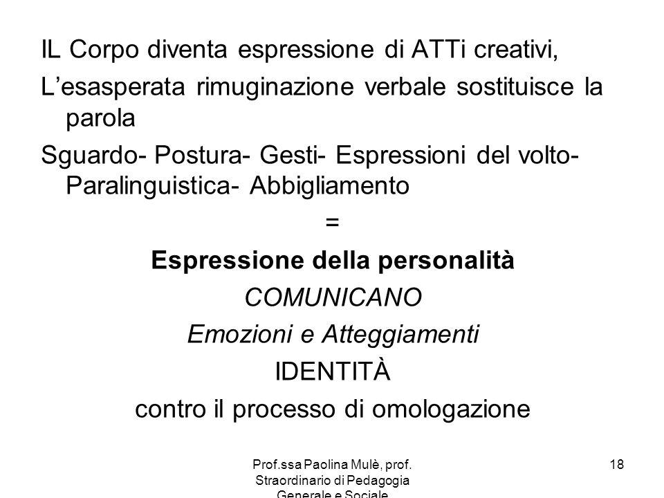 IL Corpo diventa espressione di ATTi creativi,