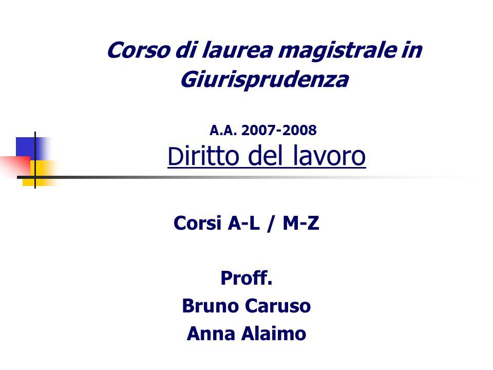 Corsi A-L / M-Z Proff. Bruno Caruso Anna Alaimo