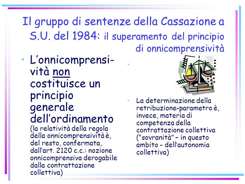 Il gruppo di sentenze della Cassazione a S. U