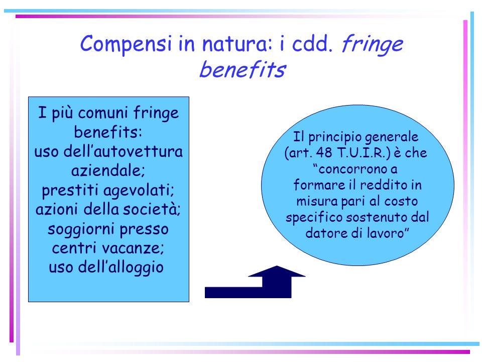 Compensi in natura: i cdd. fringe benefits