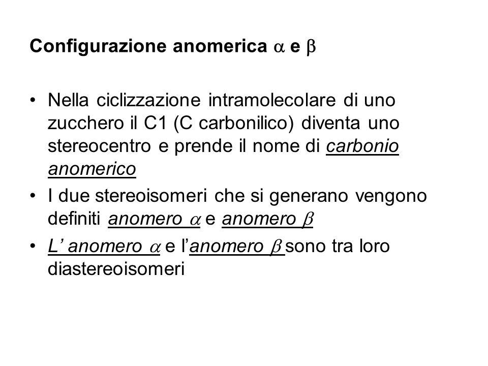 Configurazione anomerica a e b