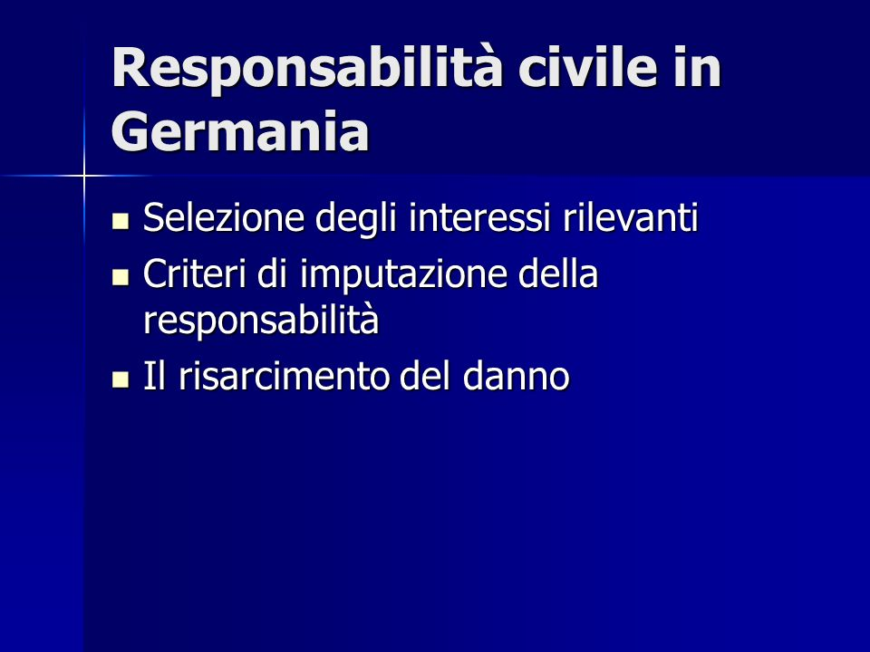 Responsabilità civile in Germania