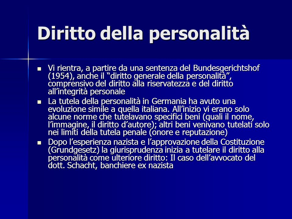 Diritto della personalità