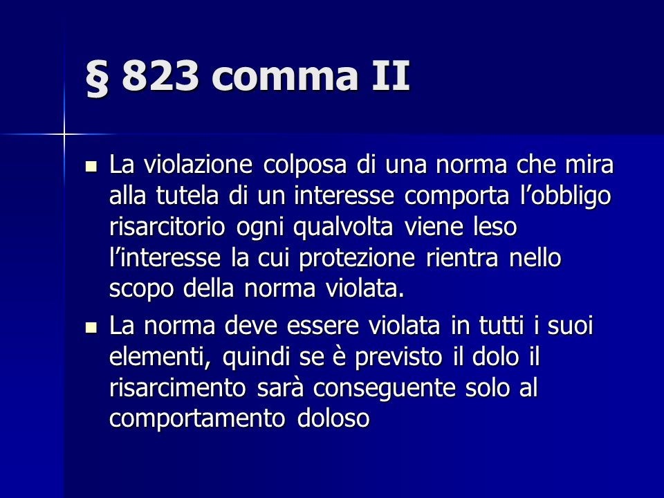 § 823 comma II