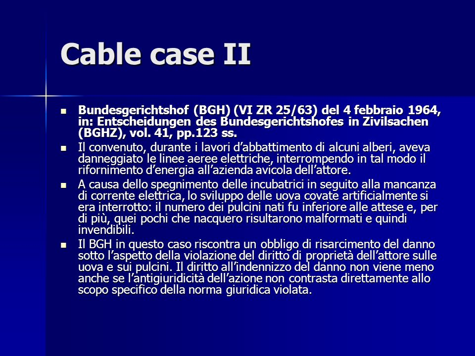 Cable case II