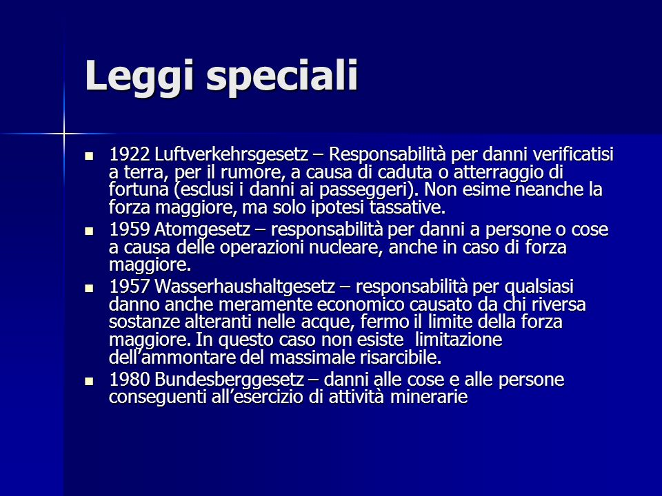 Leggi speciali