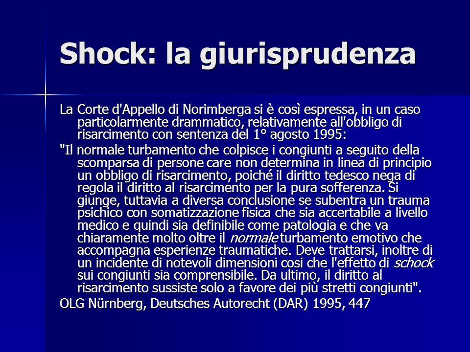Shock: la giurisprudenza