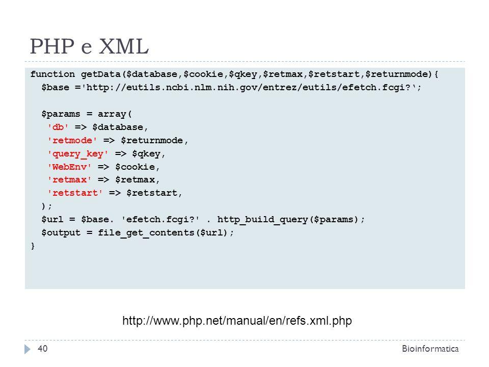 PHP e XML http://www.php.net/manual/en/refs.xml.php
