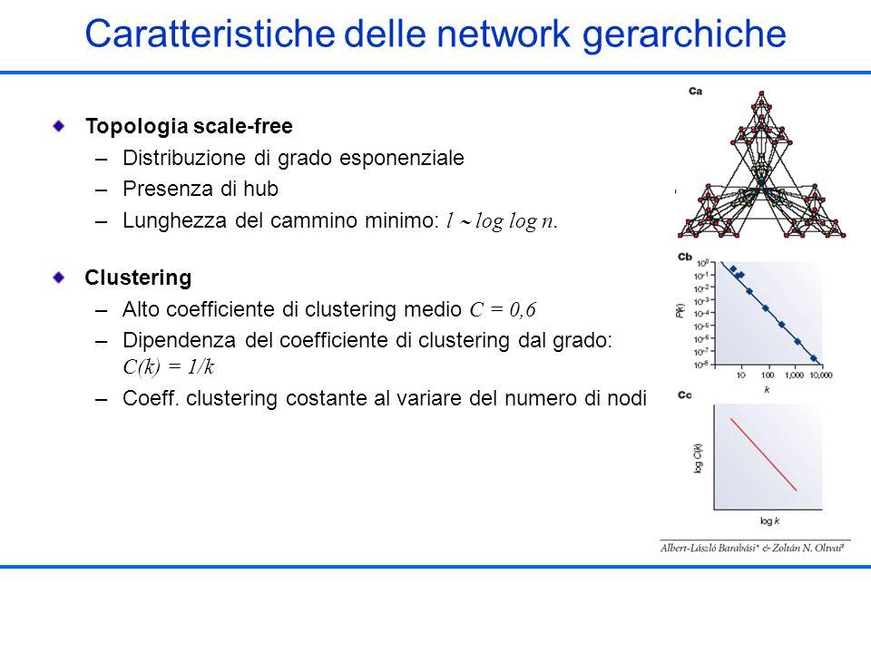 Caratteristiche delle network gerarchiche