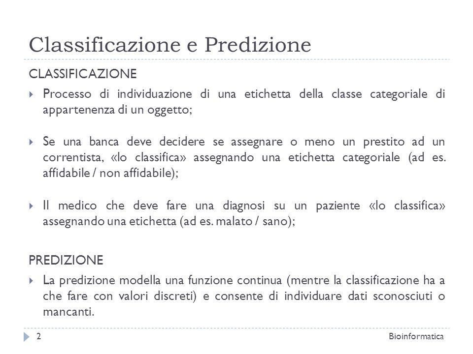 Classificazione e Predizione