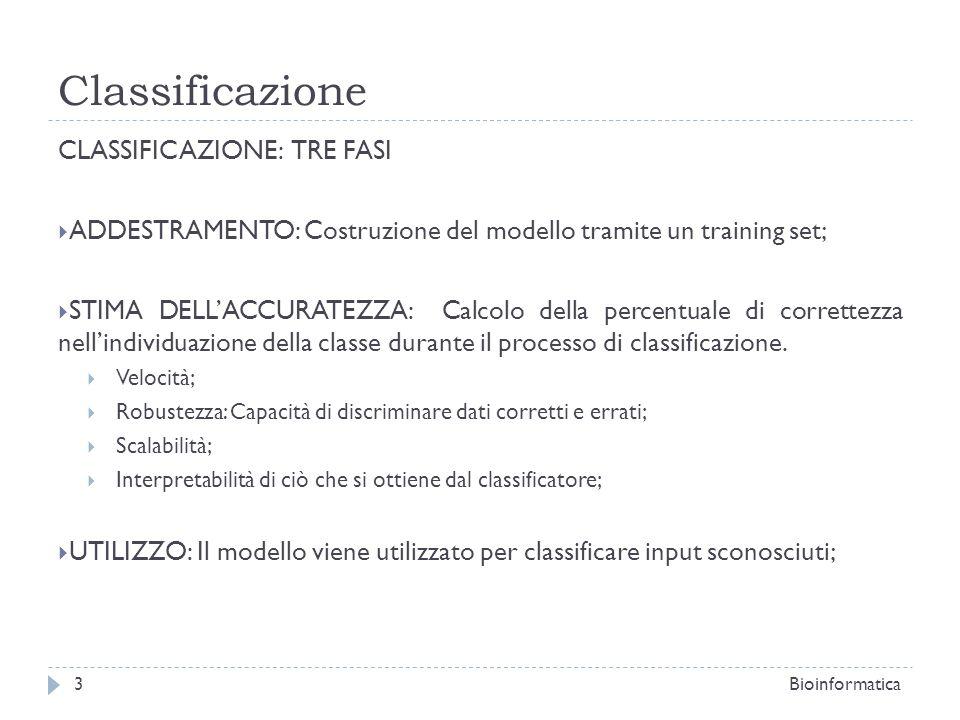 Classificazione CLASSIFICAZIONE: TRE FASI