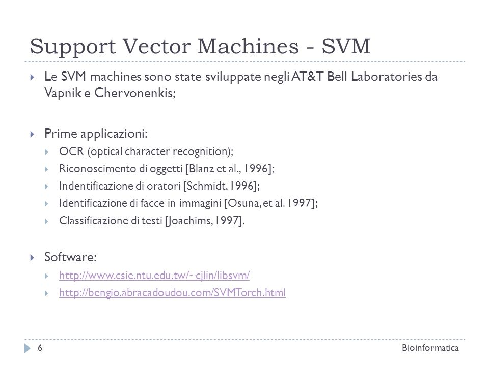 Support Vector Machines - SVM